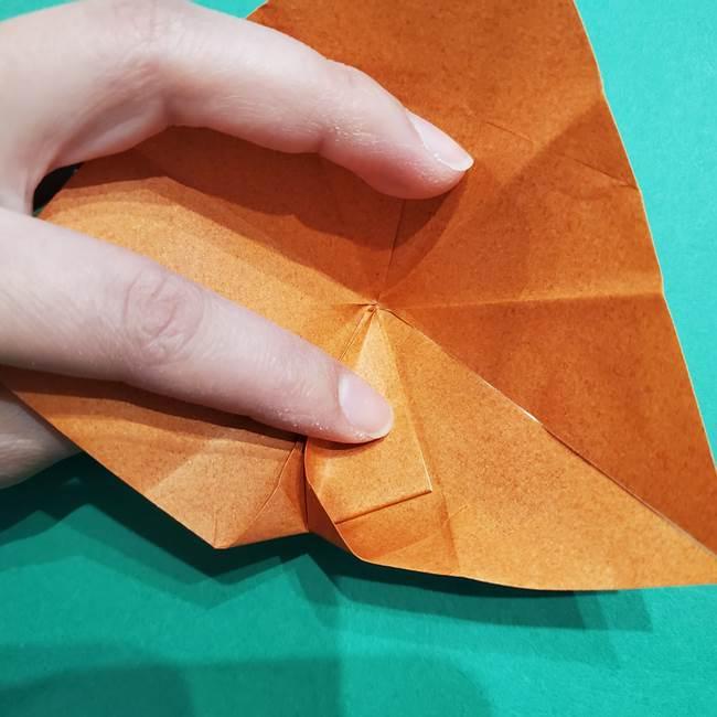 折り紙のソフトクリーム(立体)の折り方作り方コーン(22)