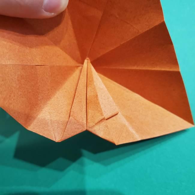 折り紙のソフトクリーム(立体)の折り方作り方コーン(23)