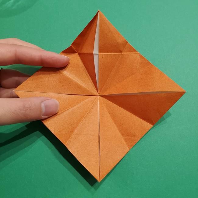 折り紙のソフトクリーム(立体)の折り方作り方コーン(25)
