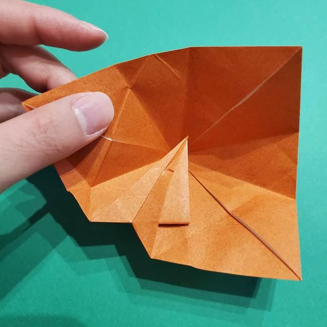 折り紙のソフトクリーム(立体)の折り方作り方コーン(26)