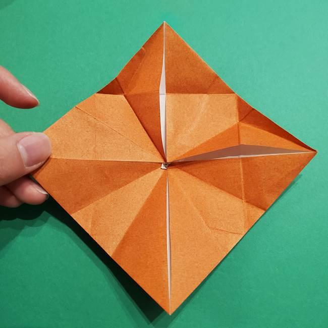 折り紙のソフトクリーム(立体)の折り方作り方コーン(27)