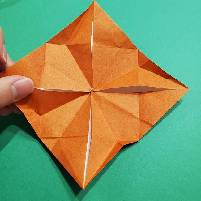 折り紙のソフトクリーム(立体)の折り方作り方コーン(28)