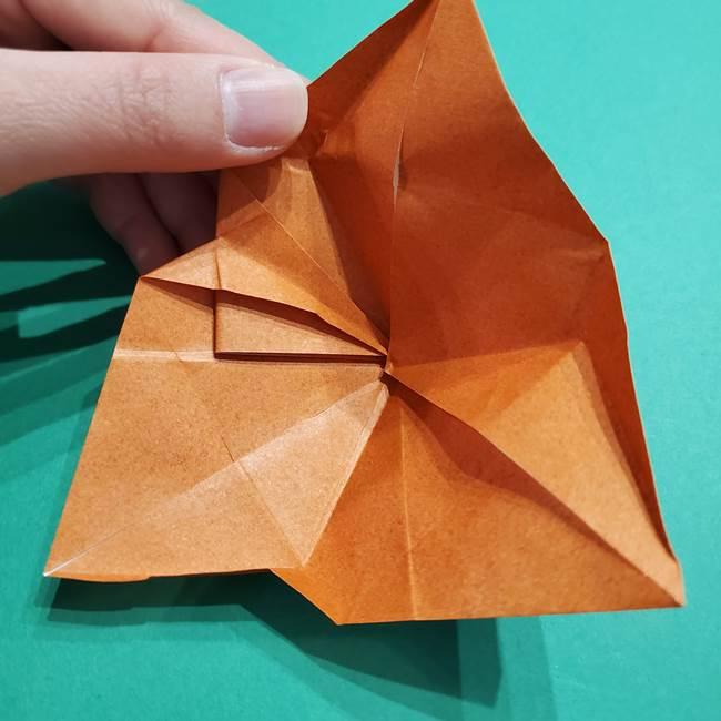 折り紙のソフトクリーム(立体)の折り方作り方コーン(29)