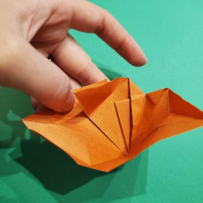 折り紙のソフトクリーム(立体)の折り方作り方コーン(30)