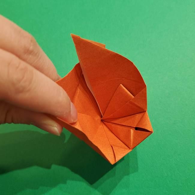 折り紙のソフトクリーム(立体)の折り方作り方コーン(32)