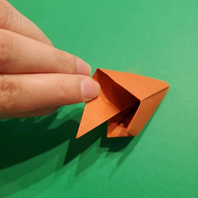 折り紙のソフトクリーム(立体)の折り方作り方コーン(34)