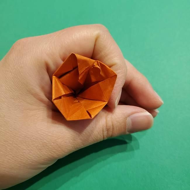 折り紙のソフトクリーム(立体)の折り方作り方コーン(35)
