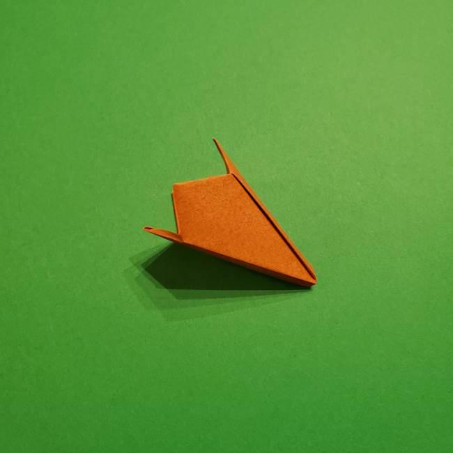 折り紙のソフトクリーム(立体)の折り方作り方コーン(36)