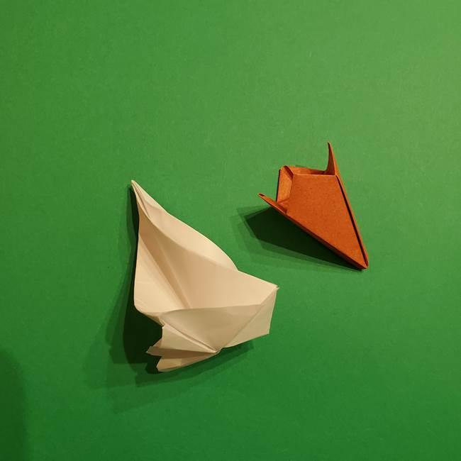 折り紙のソフトクリーム(立体)の折り方作り方コーン(37)