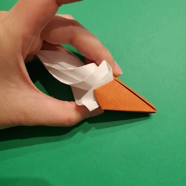折り紙のソフトクリーム(立体)の折り方作り方コーン(38)