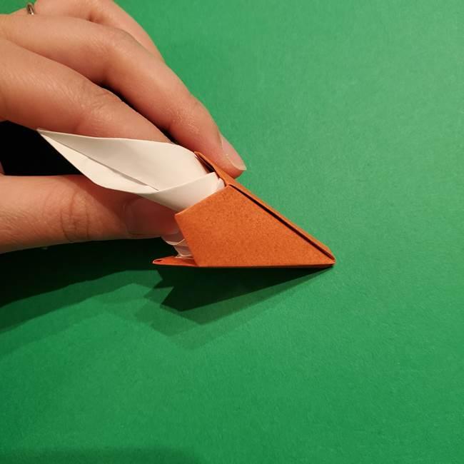 折り紙のソフトクリーム(立体)の折り方作り方コーン(39)