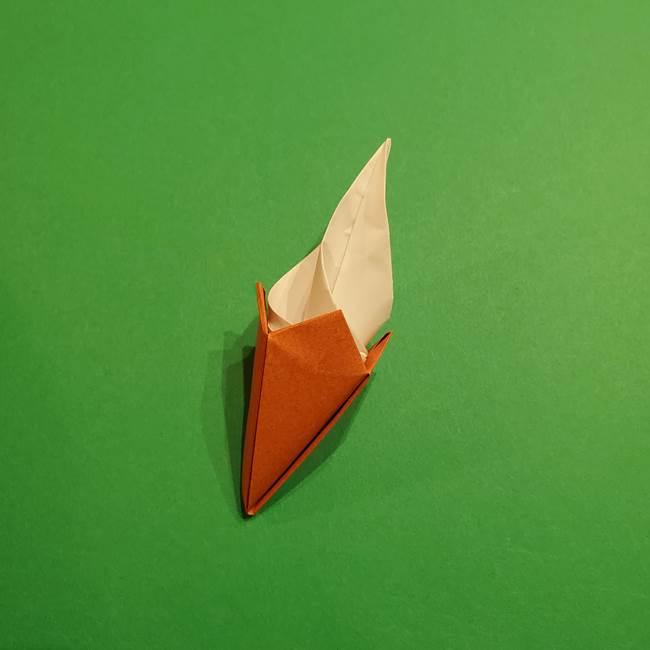 折り紙のソフトクリーム(立体)の折り方作り方コーン(41)