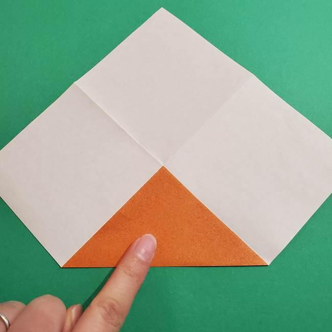 折り紙のソフトクリーム(立体)の折り方作り方コーン(5)
