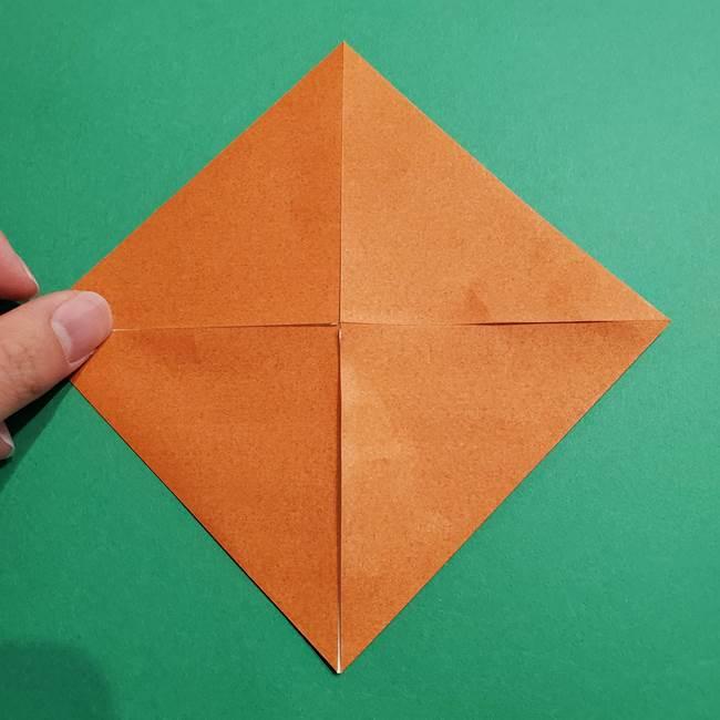 折り紙のソフトクリーム(立体)の折り方作り方コーン(6)