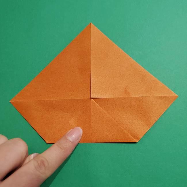 折り紙のソフトクリーム(立体)の折り方作り方コーン(7)