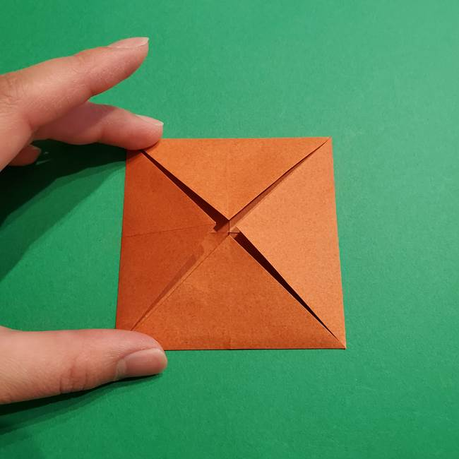 折り紙のソフトクリーム(立体)の折り方作り方コーン(8)