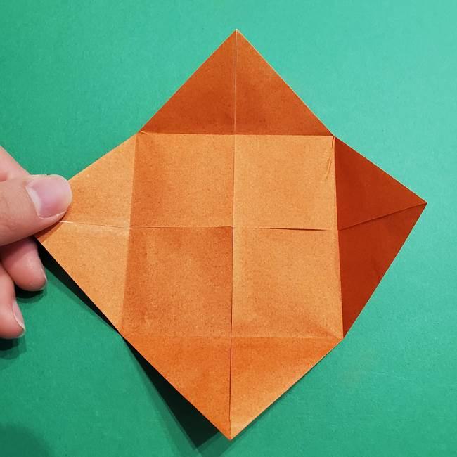 折り紙のソフトクリーム(立体)の折り方作り方コーン(9)