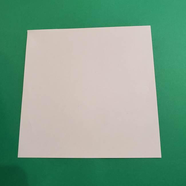 折り紙のソフトクリーム(立体)の折り方作り方(1)