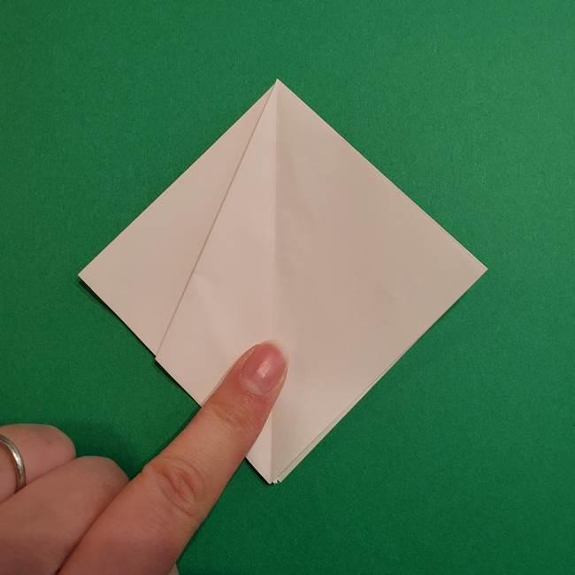 折り紙のソフトクリーム(立体)の折り方作り方(12)