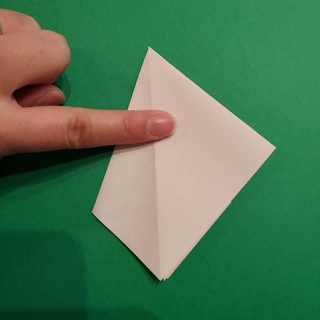 折り紙のソフトクリーム(立体)の折り方作り方(14)