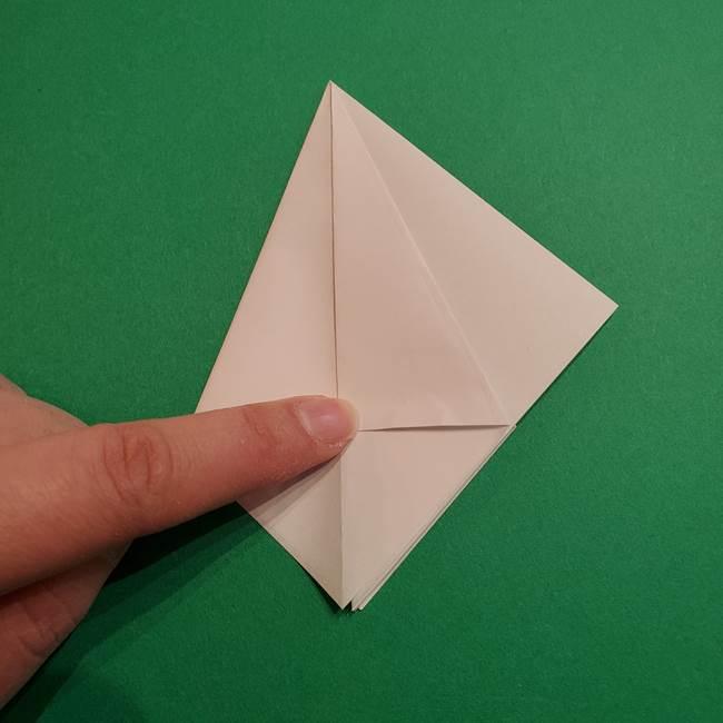 折り紙のソフトクリーム(立体)の折り方作り方(15)