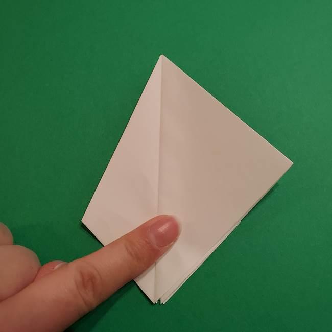 折り紙のソフトクリーム(立体)の折り方作り方(16)