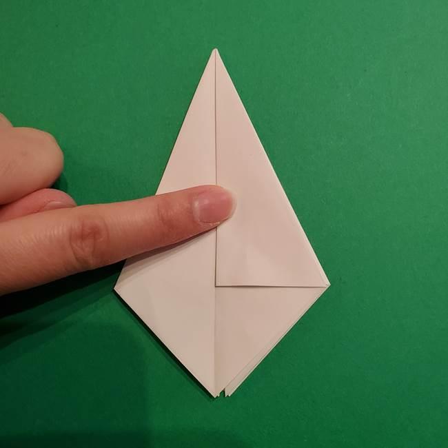折り紙のソフトクリーム(立体)の折り方作り方(17)