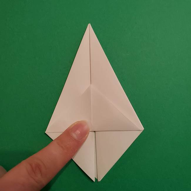 折り紙のソフトクリーム(立体)の折り方作り方(18)
