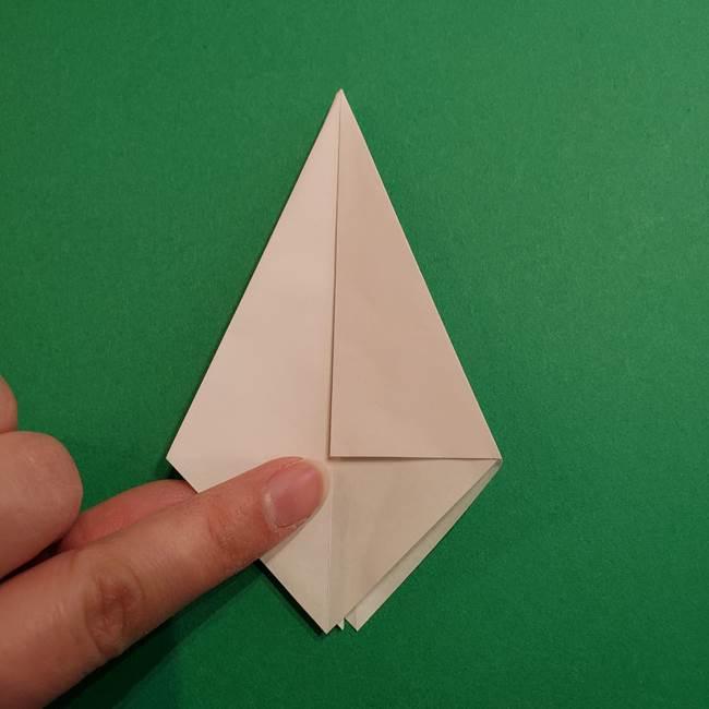 折り紙のソフトクリーム(立体)の折り方作り方(19)