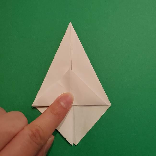 折り紙のソフトクリーム(立体)の折り方作り方(20)