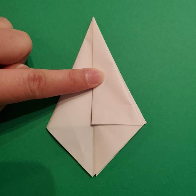 折り紙のソフトクリーム(立体)の折り方作り方(21)