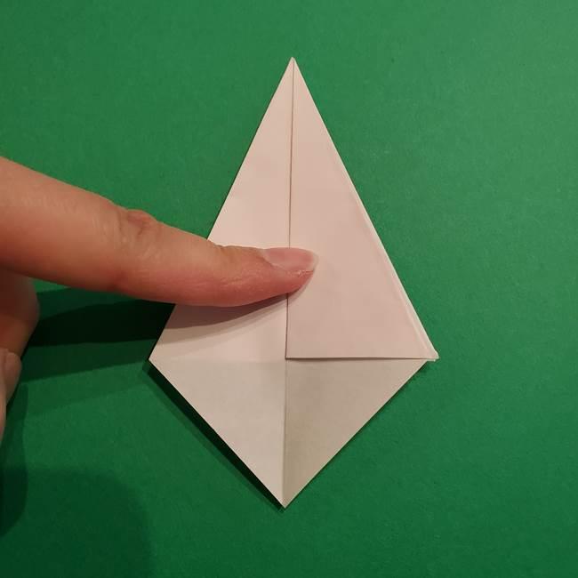 折り紙のソフトクリーム(立体)の折り方作り方(23)