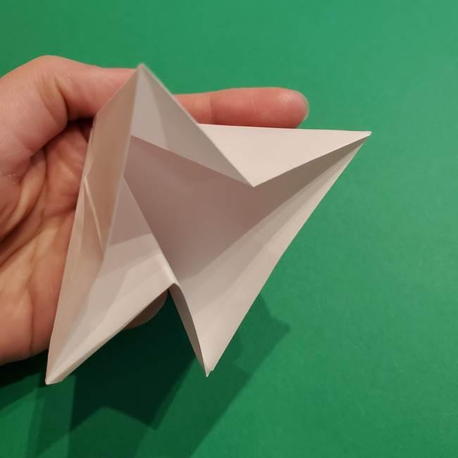 折り紙のソフトクリーム(立体)の折り方作り方(25)
