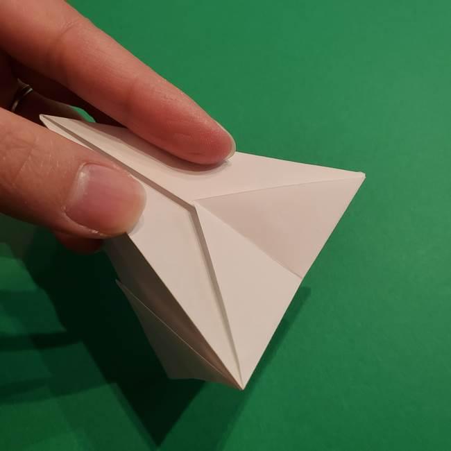 折り紙のソフトクリーム(立体)の折り方作り方(26)