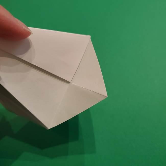 折り紙のソフトクリーム(立体)の折り方作り方(27)