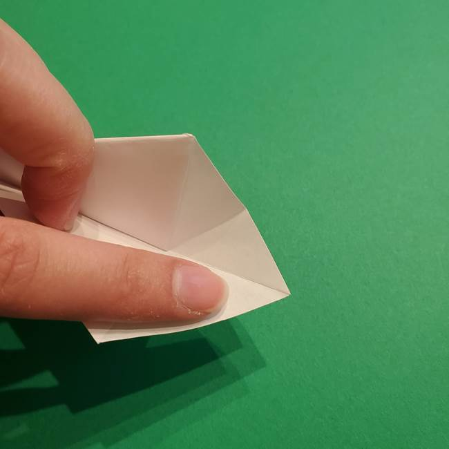 折り紙のソフトクリーム(立体)の折り方作り方(28)