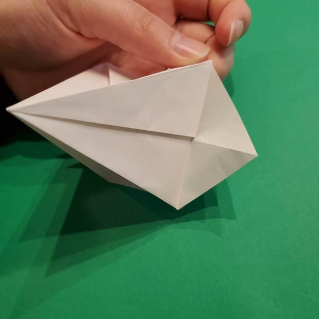 折り紙のソフトクリーム(立体)の折り方作り方(31)