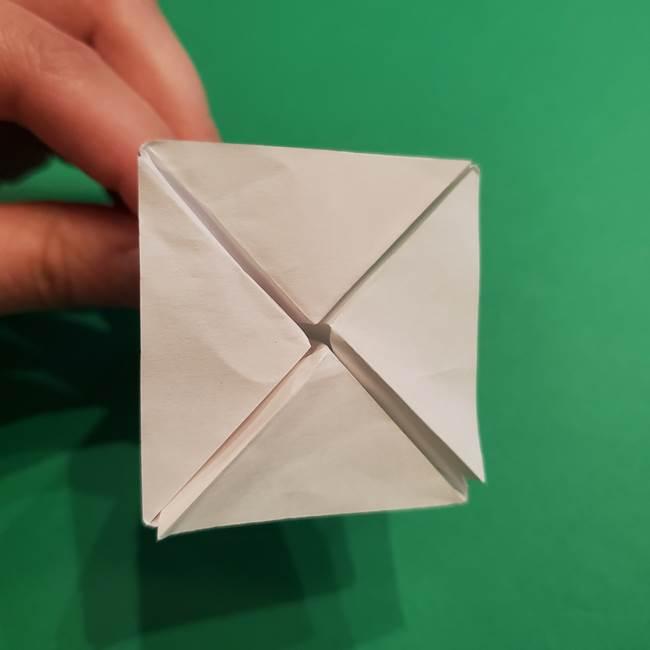 折り紙のソフトクリーム(立体)の折り方作り方(34)