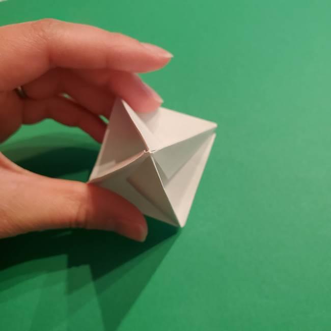 折り紙のソフトクリーム(立体)の折り方作り方(35)
