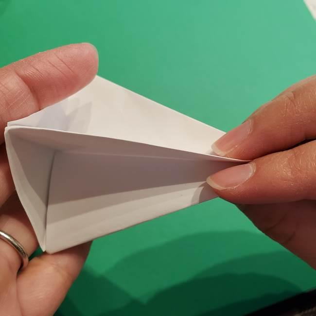 折り紙のソフトクリーム(立体)の折り方作り方(36)