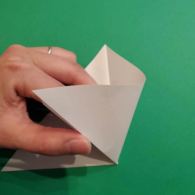 折り紙のソフトクリーム(立体)の折り方作り方(4)