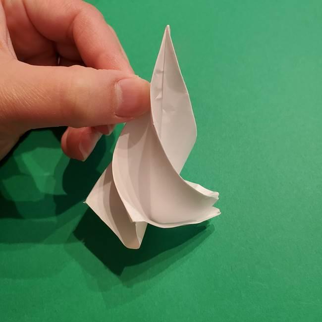折り紙のソフトクリーム(立体)の折り方作り方(41)