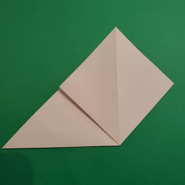 折り紙のソフトクリーム(立体)の折り方作り方(5)