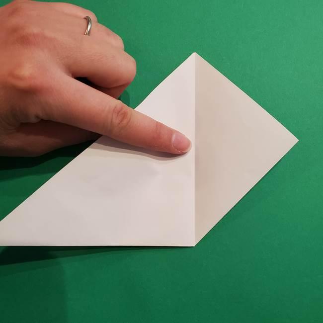 折り紙のソフトクリーム(立体)の折り方作り方(7)