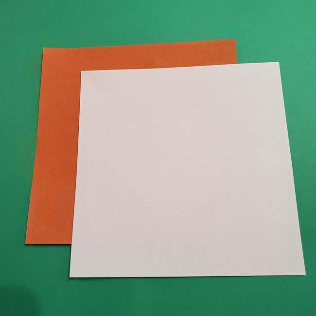 折り紙のソフトクリーム(立体)*用意するもの