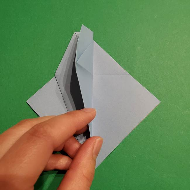 折り紙のポケモン カメックスの折り方作り方(18)