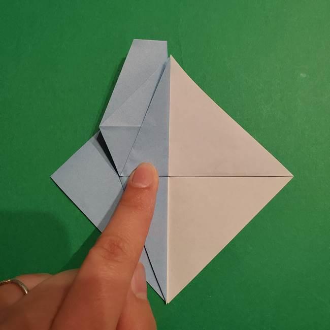 折り紙のポケモン カメックスの折り方作り方(20)