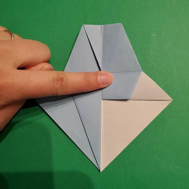 折り紙のポケモン カメックスの折り方作り方(21)