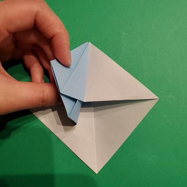 折り紙のポケモン カメックスの折り方作り方(26)