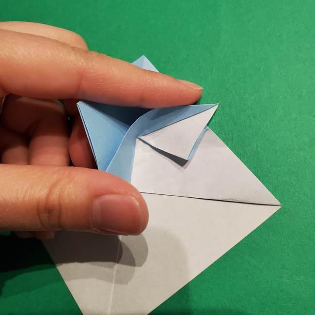 折り紙のポケモン カメックスの折り方作り方(28)